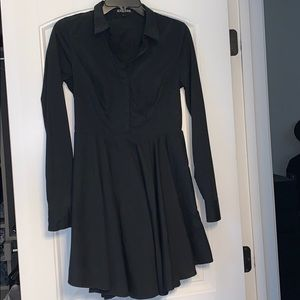 Express black long sleeve dress
